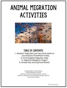 Migration Lesson and Activities