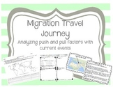 Migration - Push Pull Factors: Migration Travel Journey using Current Events