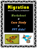 Migration // Science // Worksheet // Case Study // PPT //