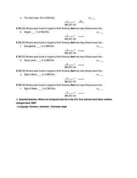 Migration Unit Math Word Problems