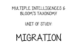 Migration Unit - Using Multiple Intelligences and Blooms Taxonomy