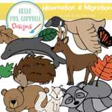 Migration and Hibernation Clipart