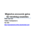 Migration economic gains for receiving countries