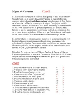 Miguel de Cervantes Biografía y Lectura de Don Quijote - Spanish Reading
