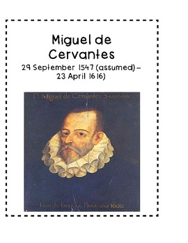 Miguel de Cervantes Biography Interactive Notebook
