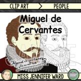Miguel de Cervantes Clipart