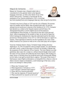 Miguel de Cervantes and Lope de Vega Biographies: Spanish Authors (English)