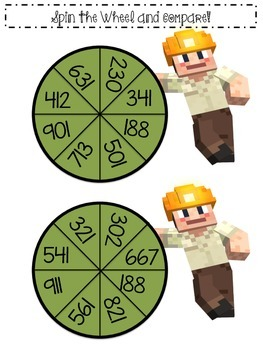 Miinecraft Math: Comparing Numbers