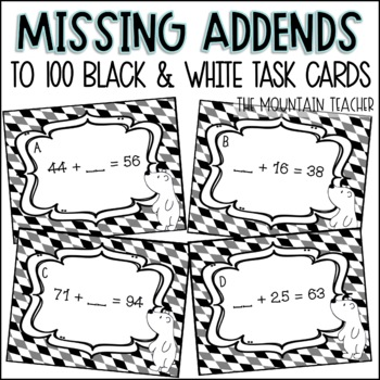 Missing Addends to 100 Task Cards