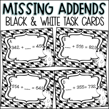 Missing Addends to 1000 Task Cards