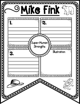 Mike Fink Tall Tale Reading Comprehension Banner