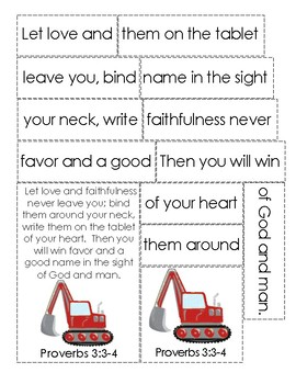 Mike Mulligan and His Steam Shovel Bible Verse Printable (Proverbs 3:3-4)
