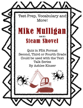 Mike Mulligan and his Steam Shovel - Vocabulary, Comprehension, Test Prep