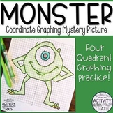 Halloween Math Monster Coordinate Plane Graphing Ordered Pairs Mystery Picture