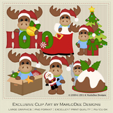 Mike the Moose Christmas Clipart Graphics Set 2
