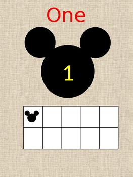 Mickey Numbers/Ten Frame