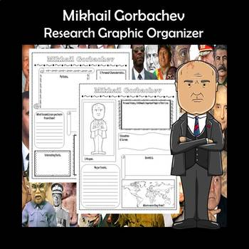 Mikhail Gorbachev Biography Research Graphic Organizer