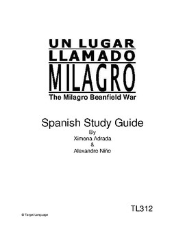 Milagro Beanfield War-Spanish Study Guide