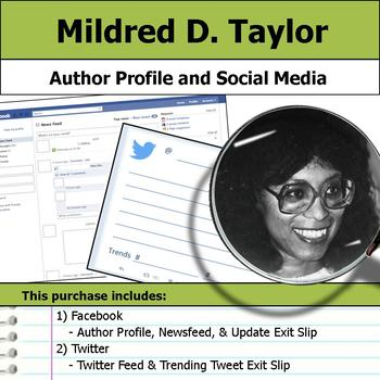 Mildred D. Taylor - Author Study - Profile and Social Media