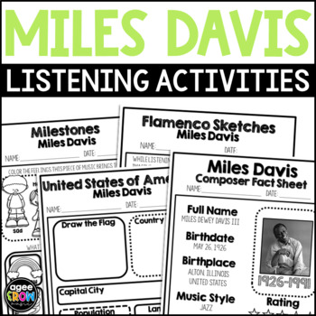 Miles Davis Composer Listening Activities, May, Black History Month
