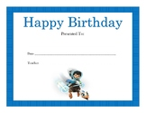 Miles from Tomorrowland Birthday Certificates (Includes 4 Certificates)
