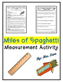 Miles of Spaghetti Measurement Activity