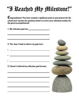 Mileston Goal Completion Worksheet