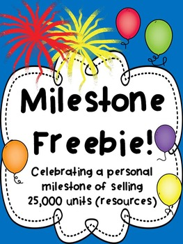 FREE DOWNLOAD : MILESTONE FREEBIE