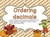 Milestone Freebie!  Ordering Decimals Center Activity for