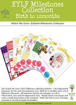EYLF Developmental Milestones Birth-5 years Bundle Offer