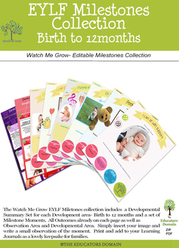 Milestone Moments- Birth to 12 months