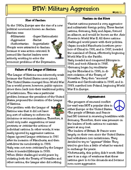 Military Aggression Between the Wars