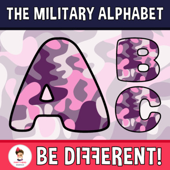Military Alphabet Clipart Letters (ENG.-SPAN.)