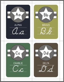 A-Z Cursive Military Alphabet
