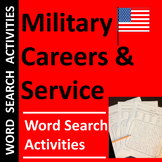 Military Careers Word Search Activities for Veterans Day