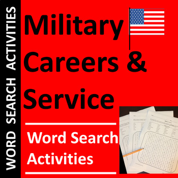 Military Careers Word Searches, Veterans Day