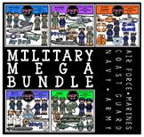 Military Clip Art Mega Bundle {Educlips Clipart}