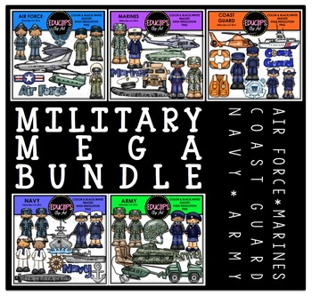 Military Clip Art Mega Bundle {Educlips Clipart}