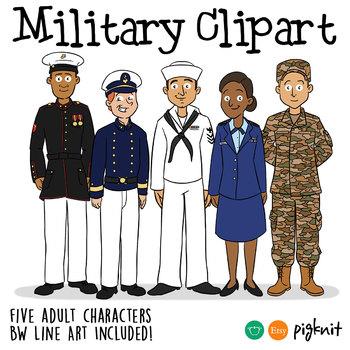Military Clipart   Army, Navy, Marines, Air Force, Coastguard