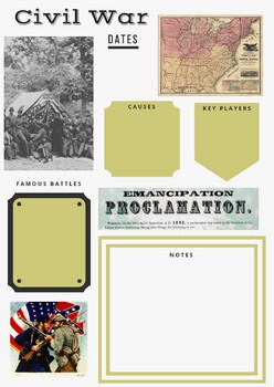 Military History Guided Notes - Civil War