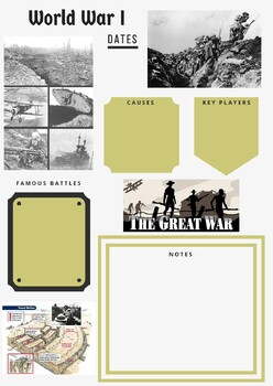 Military History Guided Notes - World War I