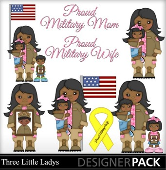 Military Mom clip-art and line art
