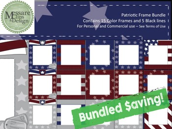 Military Patriotic Clipart 4-Set COMBO {Messare Clips and Design}