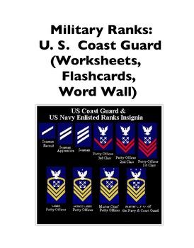 Military Ranks: Coast Guard (Worksheets and Word Walls)