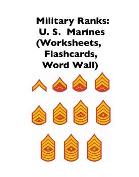 Military Ranks: Marines (Worksheets and Word Walls)