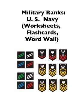 Military Ranks: U.S. Navy (Worksheets and Word Walls)