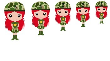 Military Support Our Troops themed Size Sequence preschool printable activity.