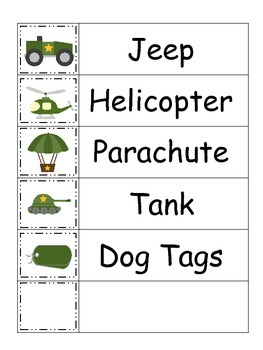 Military Support Our Troops themed Word Wall theme for daycare teachers.