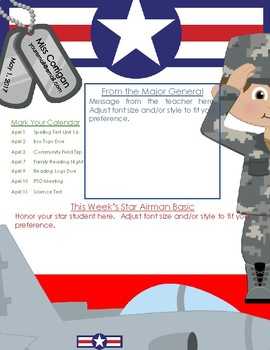Military Theme + Newsletter Template (Air Force)