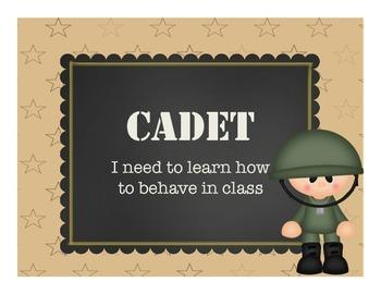 Military Themed Behavior Chart
